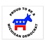 Michigan Democrat Pride Small Poster