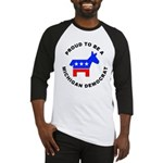 Michigan Democrat Pride Baseball Jersey
