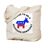 Michigan Democrat Pride Tote Bag