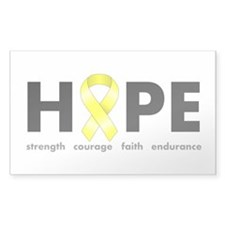 Yellow Ribbon Hope Decal