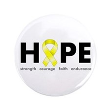 "Yellow Ribbon Hope 3.5"" Button"