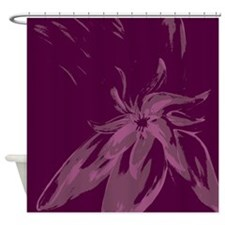 Beautiful Designer Purple Abstract Shower Curtain