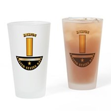 Navy - Officer - Ensign Drinking Glass