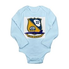 Cute Navy commander Long Sleeve Infant Bodysuit