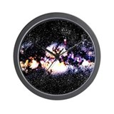 Fiery Galaxy Wall Clock