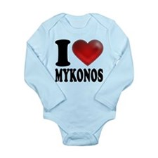 I Heat Mykonos Long Sleeve Infant Bodysuit