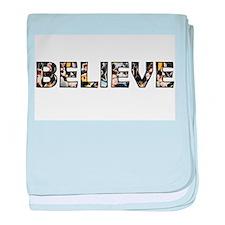 Believe baby blanket