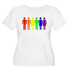 We Are Family Gay Pride Rainbow People T-Shirt