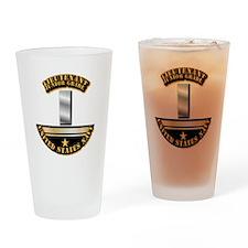 Navy - Officer - LT JG Drinking Glass