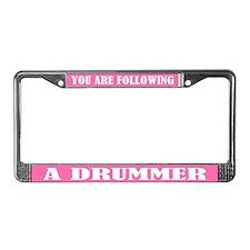Drummer Music License Plate Frame
