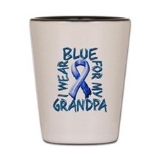 I Wear Blue for my Grandpa.png Shot Glass