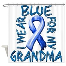 I Wear Blue for my Grandma.png Shower Curtain