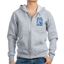 I Wear Blue for my Cousin.png Zip Hoodie