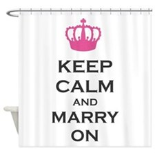 Keep Calm and Marry On Carry On Pink Crown Shower