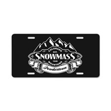 Snowmass Mountain Emblem Aluminum License Plate