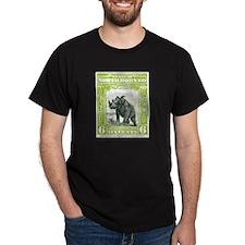 North Borneo Sumatran Rhinoceros Stamp 1909 T-Shirt