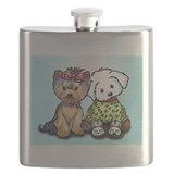 Yorkie and maltese Flask