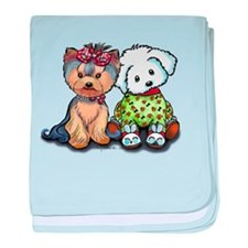 Yorkie and Maltese baby blanket