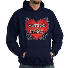 Tattoo Heart Matron Honor Hoodie