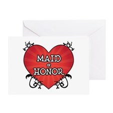 Tattoo Heart Maid Honor Greeting Card