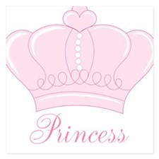Pink Crown Princess Invitations