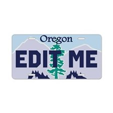 Oregon Douglas fir and mountains replica plate