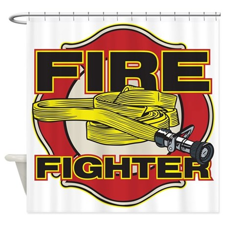 Http Www Cafepress Com Firefighter Hose And Shield Shower Curtain 683952348