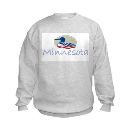 Proud Loon-Minnesota: Kids Sweatshirt