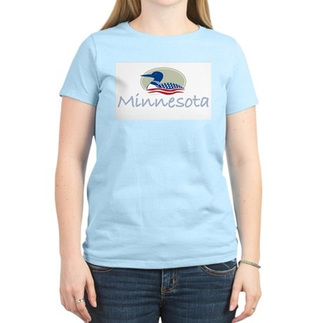 Proud Loon-Minnesota: Women's Pink T-Shirt