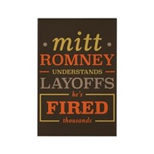 Romney Layoffs Rectangle Magnet (10 pack)