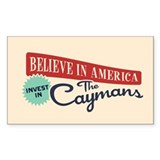 Invest in Caymans Decal