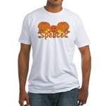 Halloween Pumpkin Spencer Fitted T-Shirt