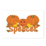 Halloween Pumpkin Spencer Postcards (Package of 8)