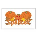 Halloween Pumpkin Spencer Sticker (Rectangle)
