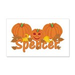 Halloween Pumpkin Spencer 20x12 Wall Decal