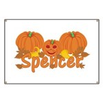 Halloween Pumpkin Spencer Banner