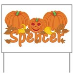 Halloween Pumpkin Spencer Yard Sign