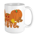 Halloween Pumpkin Steve Large Mug
