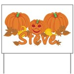 Halloween Pumpkin Steve Yard Sign