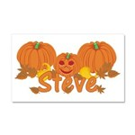 Halloween Pumpkin Steve Car Magnet 20 x 12