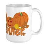 Halloween Pumpkin Tanner Large Mug