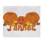 Halloween Pumpkin Tanner Throw Blanket