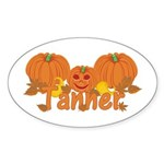 Halloween Pumpkin Tanner Sticker (Oval)