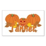Halloween Pumpkin Tanner Sticker (Rectangle)