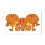 Halloween Pumpkin Tanner 20x12 Wall Decal