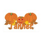 Halloween Pumpkin Tanner 35x21 Wall Decal