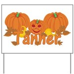 Halloween Pumpkin Tanner Yard Sign