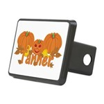 Halloween Pumpkin Tanner Rectangular Hitch Cover