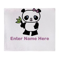 Personalized Panda Throw Blanket