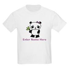 Personalized Panda Kids Light T-Shirt
